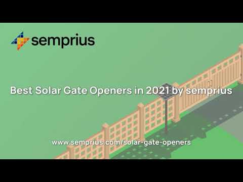 The Best Solar Gate Openers In 2021